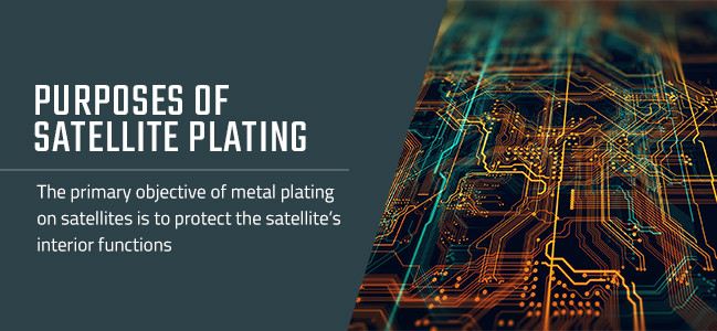 purpose of plating on satellites