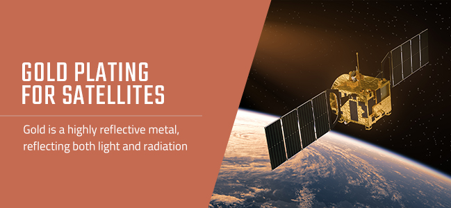 gold plating on satellites