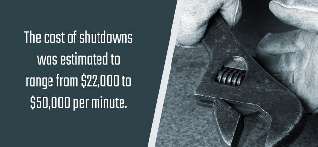 cost of shutdowns because of killer particles
