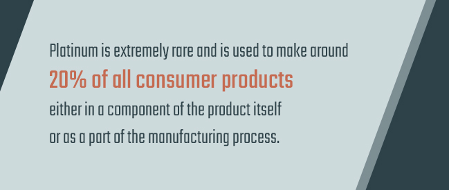 consumer products made of platinum