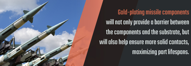 gold plating missile components