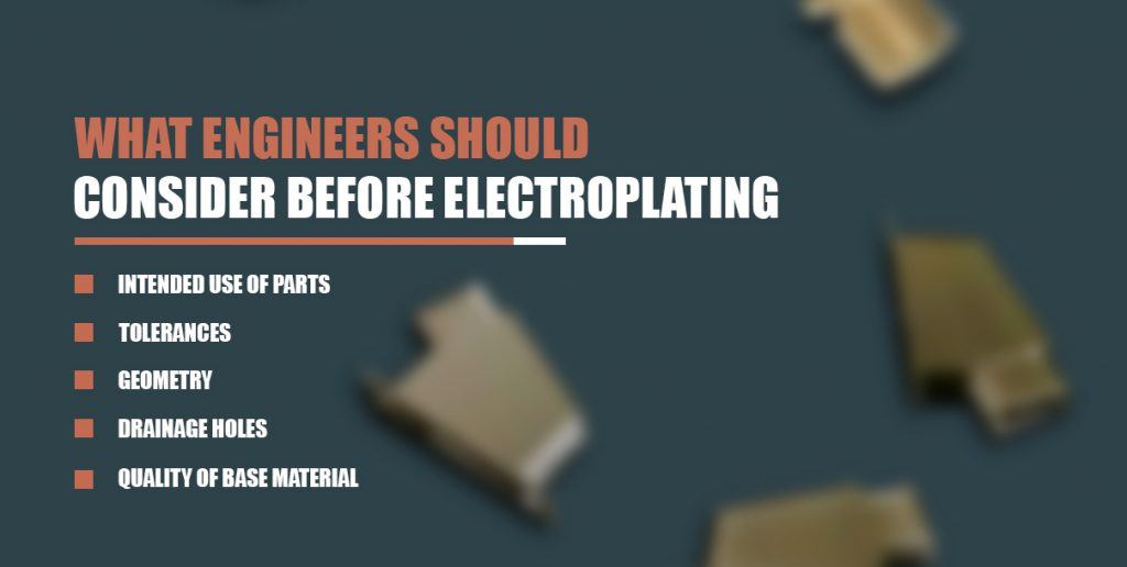 what to consider before electorplating list