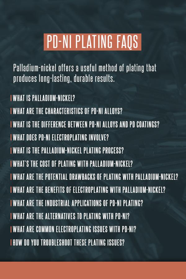 Pd-Ni Plating FAQs