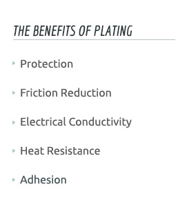 semiconductor plating benefits