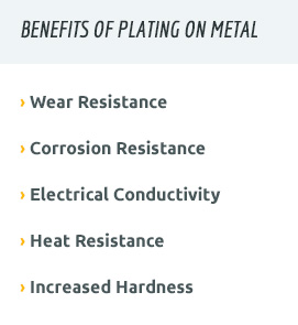 metal plating benefits for the oil and gas industry
