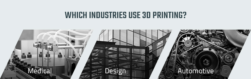 industries that use 3D printing